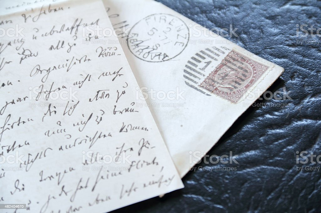letter from italy stock photo
