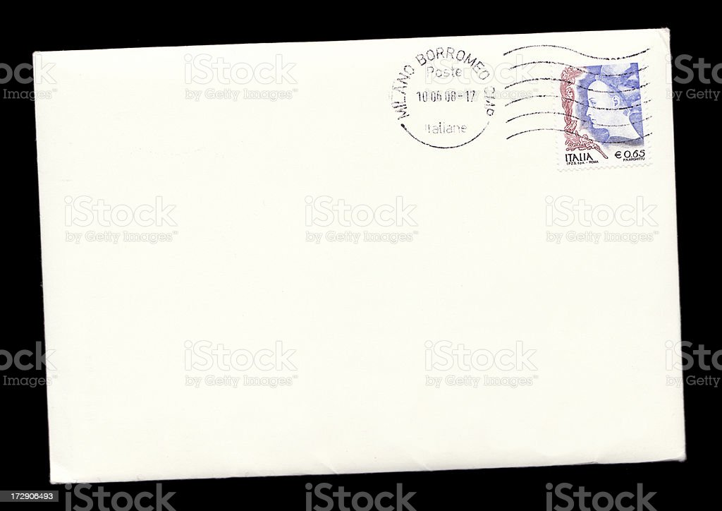 Letter from Milan stock photo