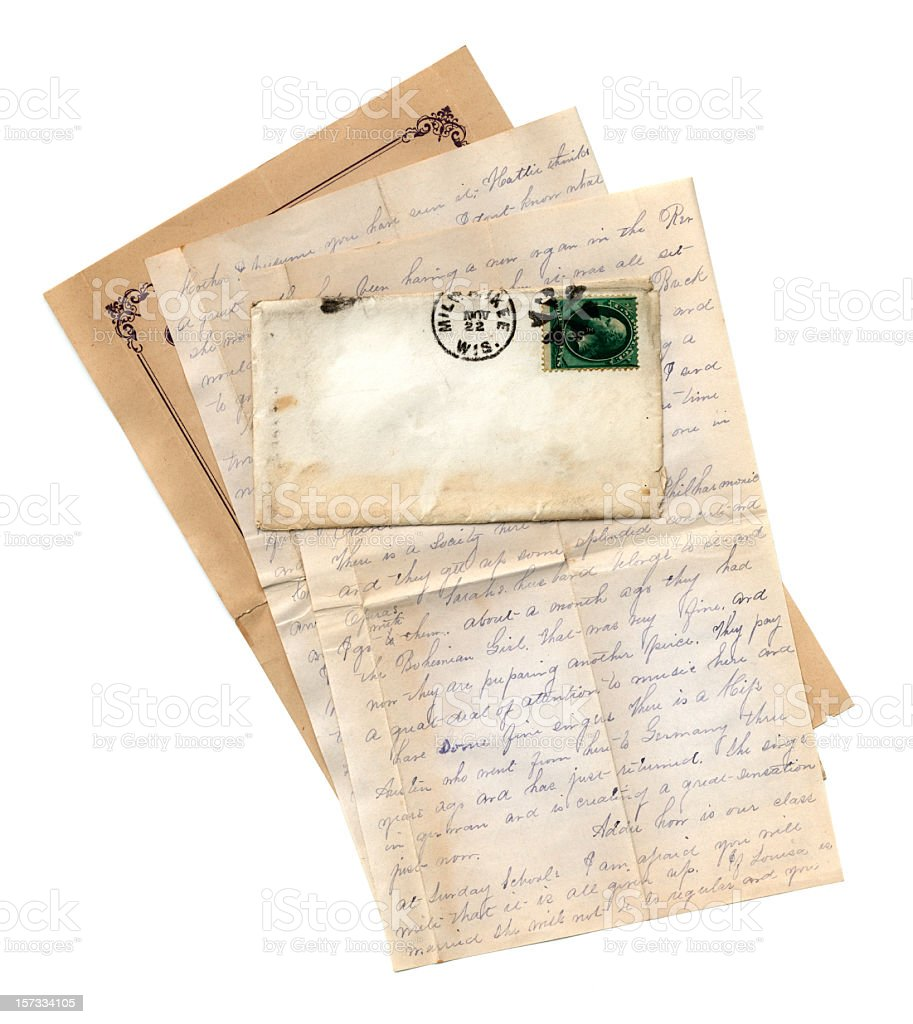 Letter from Wisconsin royalty-free stock photo