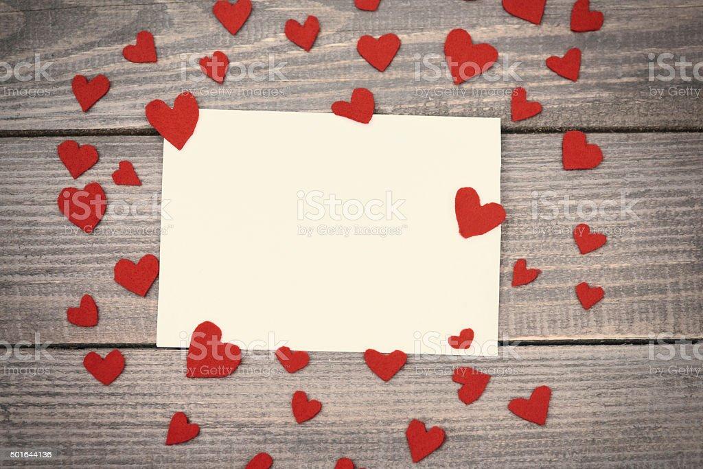 Letter full of real love stock photo