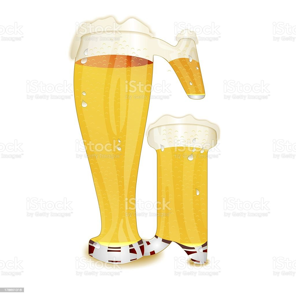 BEER ALPHABET letter G stock photo