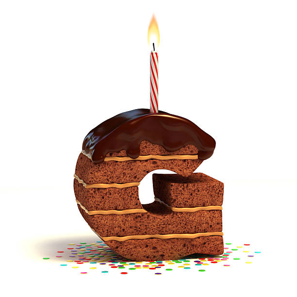 letter g shaped chocolate cake stock photo