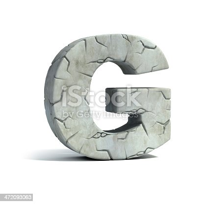 istock letter G stone 3d font 472093063