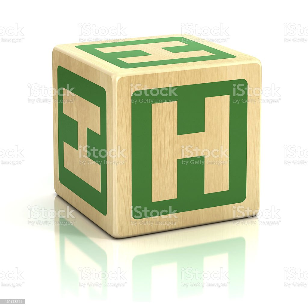 letter H alphabet cubes font stock photo