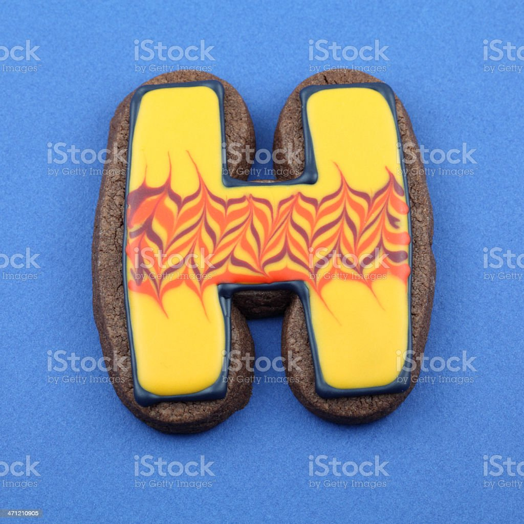Letter H Cookie royalty-free stock photo