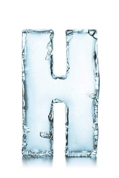 Buchstabe H gefrorene ice block alphabet – Foto