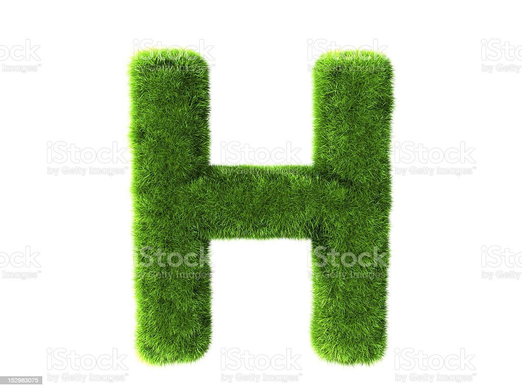 Letter H grass royalty-free stock photo