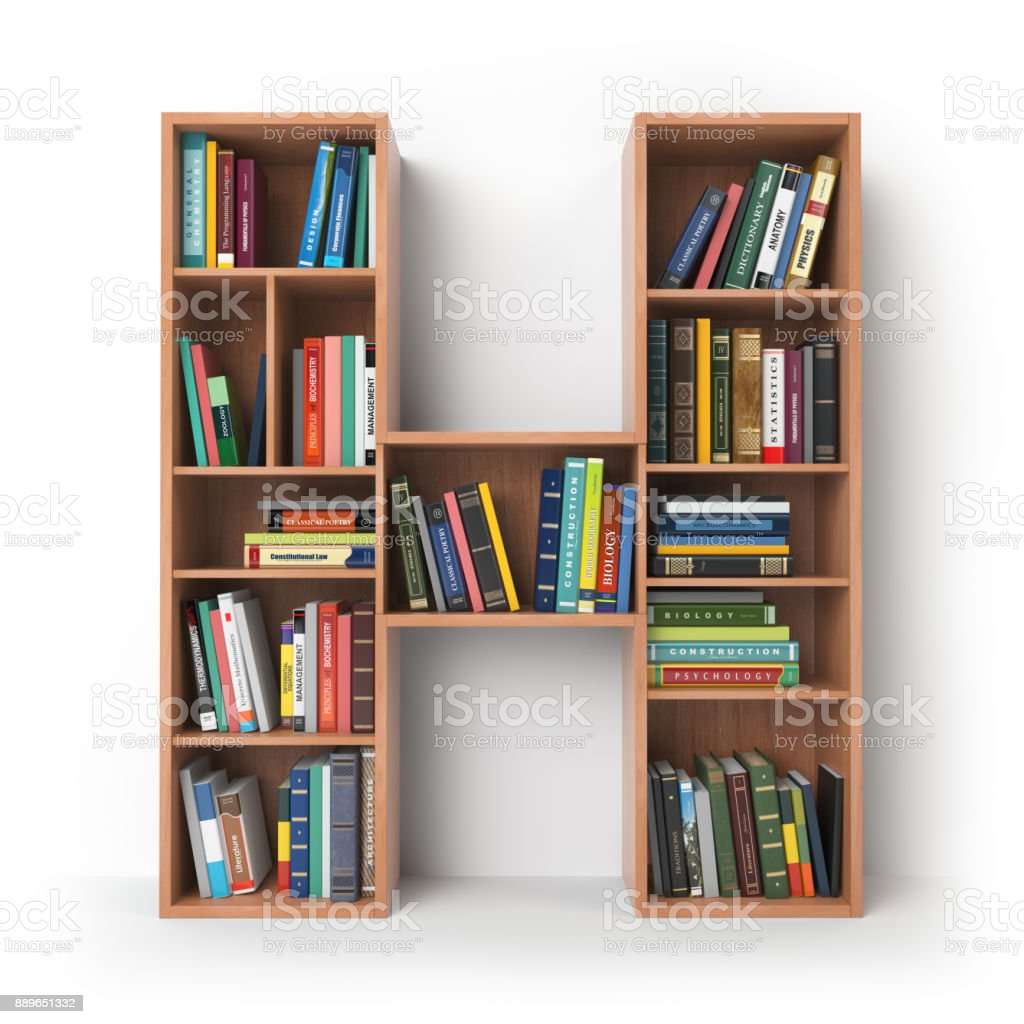Letter H in the form of shelves