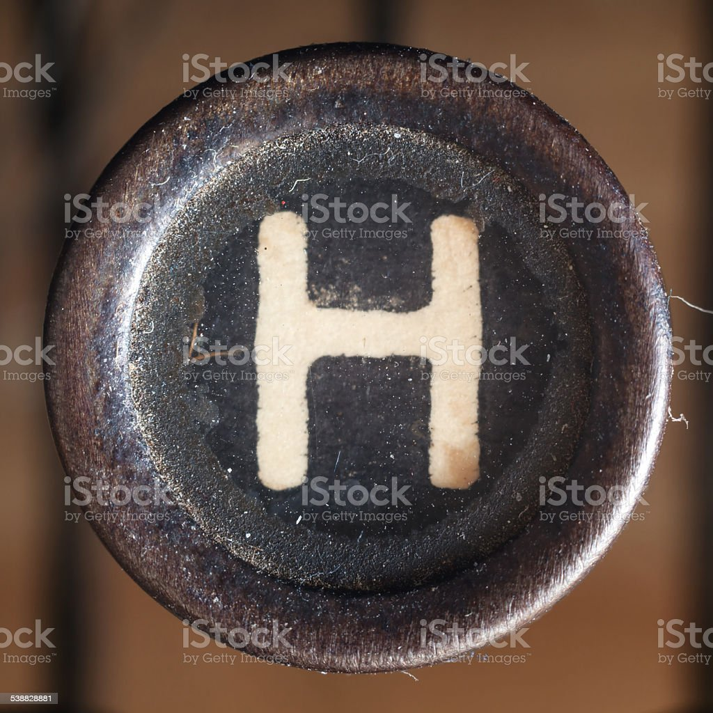Letter H stock photo