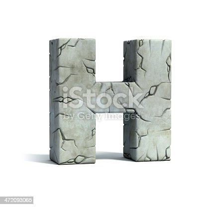 istock letter H stone 3d font 472093065