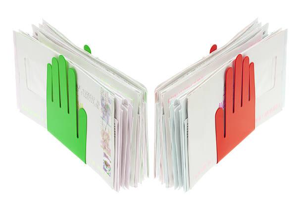 letter holder - briefhalter stock-fotos und bilder