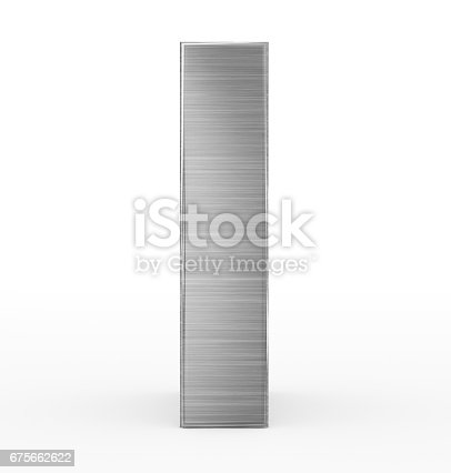 istock letter I 3d metal isolated on white 675662622