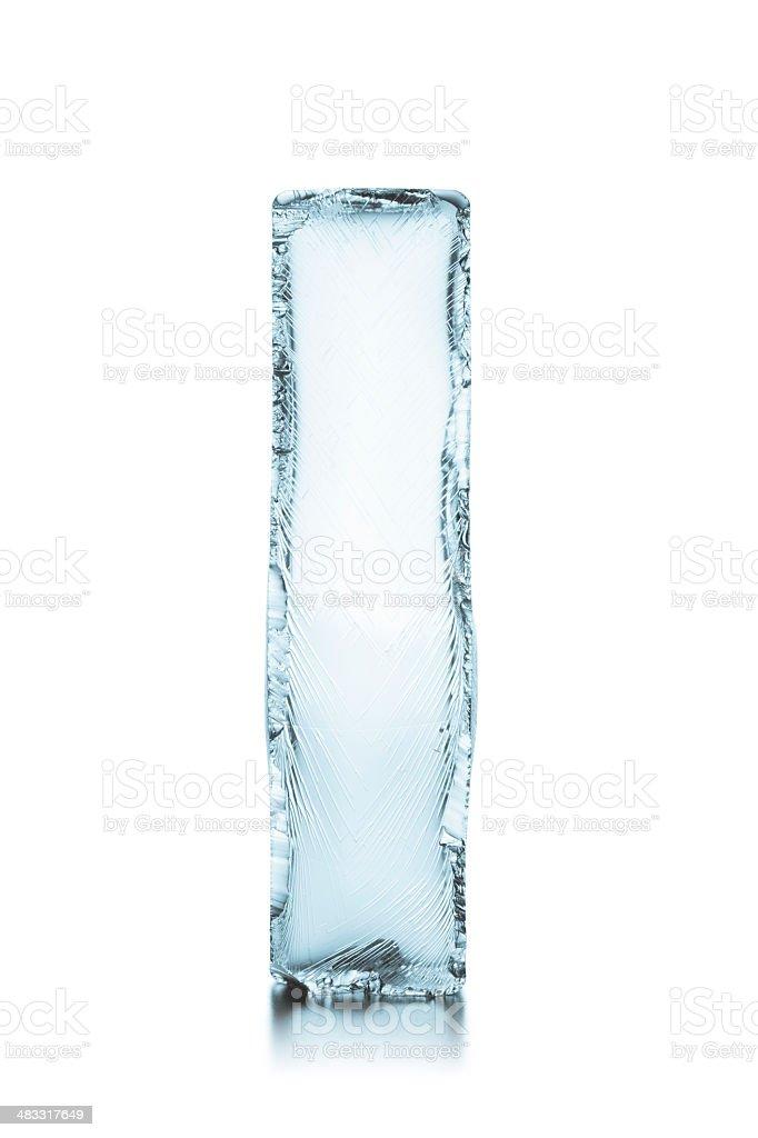 Letter I Frozen Ice Block Alphabet Stock Photo Amp More