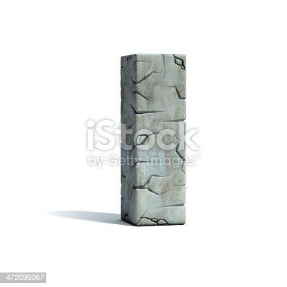 istock letter I stone 3d font 472093067