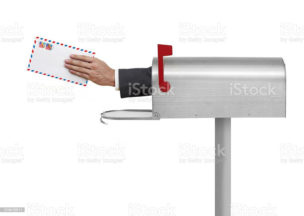 Letter in a Mailbox stock photo