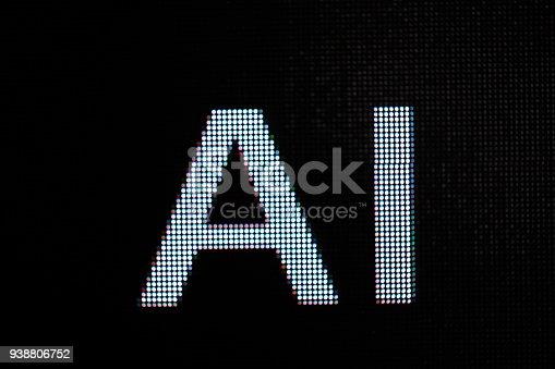 istock AI letter in billboard screen 938806752