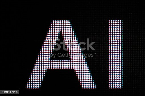 istock AI letter in billboard screen 938817292