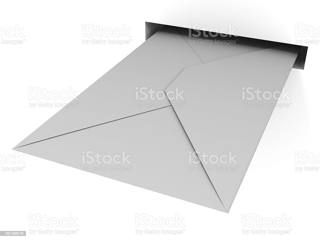Letter in slit royalty-free stock photo