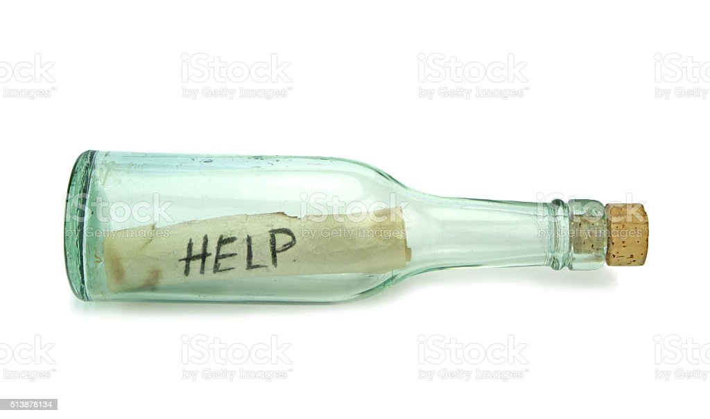 letter in the bottle royalty free stock photo