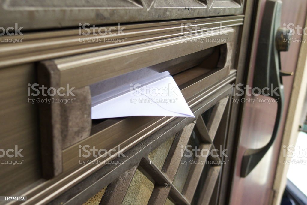 A letter in the mailbox outdoor, daytime Advertisement Stock Photo