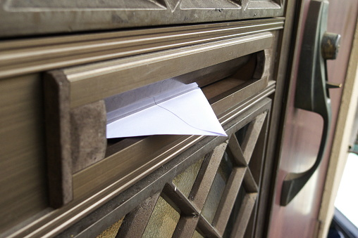 A Letter In The Mailbox Stock Photo - Download Image Now