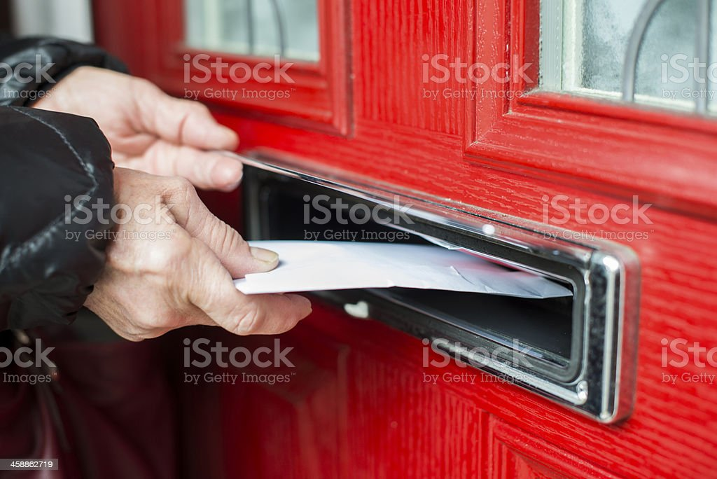 Letter in the mailbox stock photo