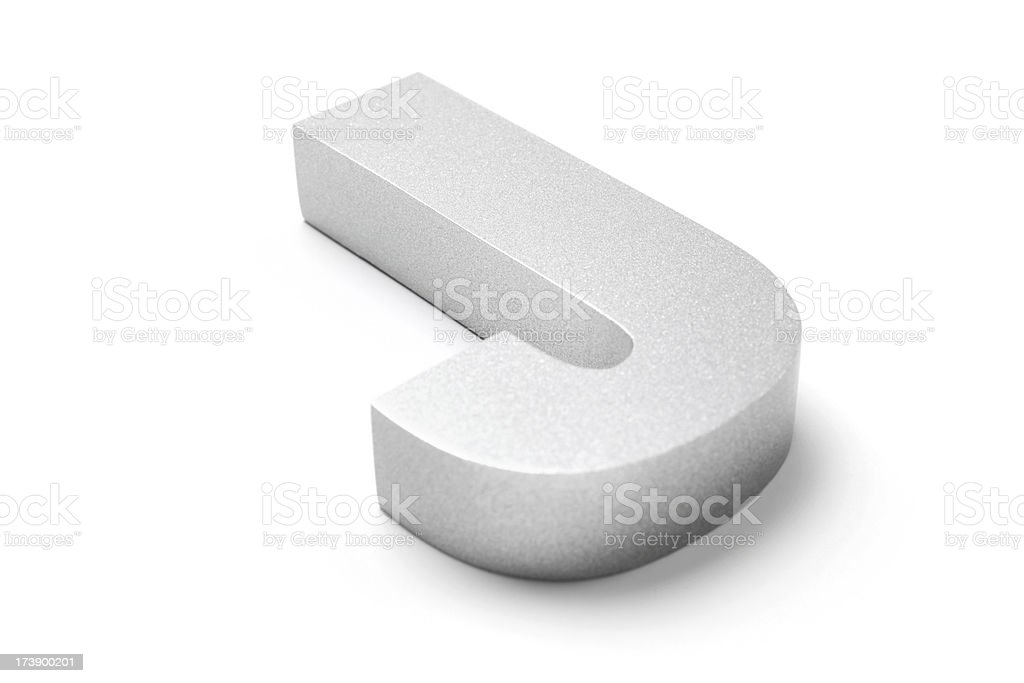 Letter J royalty-free stock photo