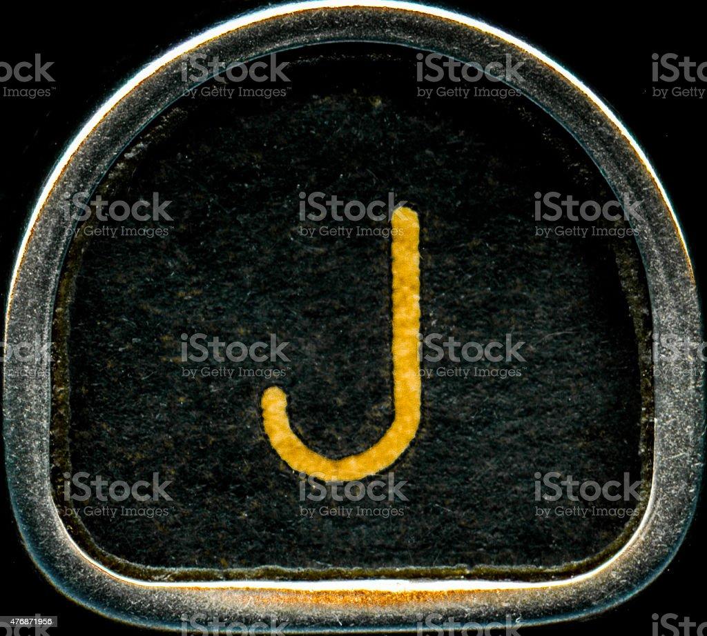 Letter J stock photo