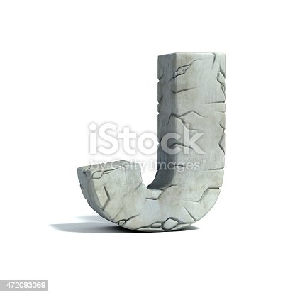 istock letter J stone 3d font 472093069
