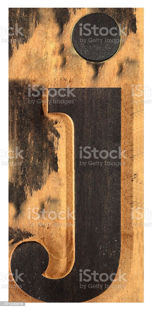 Letter 'J', XXL royalty-free stock photo