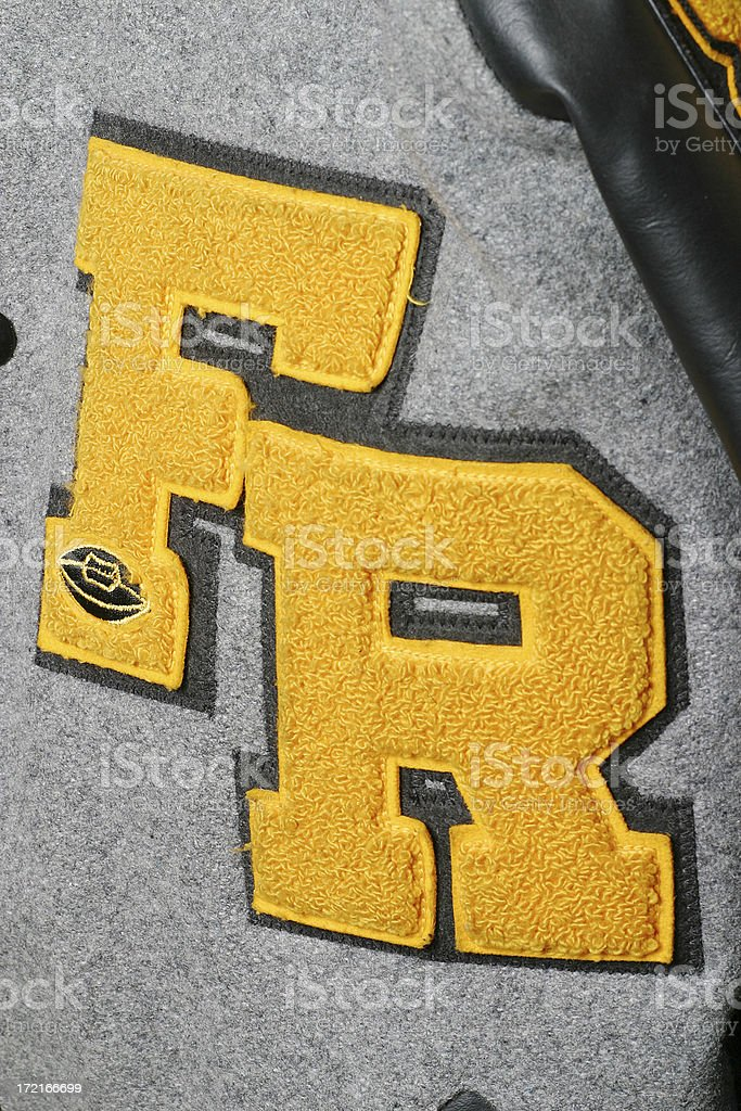 Letter jacket royalty-free stock photo