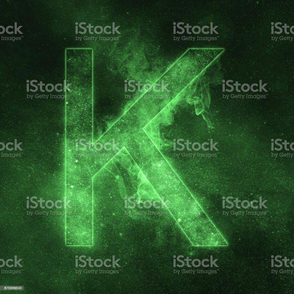 Letter K alphabet symbol. Space Letter, Night Sky Letter. - Стоковые фото Абстрактный роялти-фри