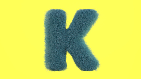 Letter K From Fur Alphabet Stock Photo - Download Image Now