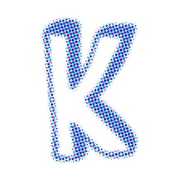letter k from points with shadows - k logo stok fotoğraflar ve resimler