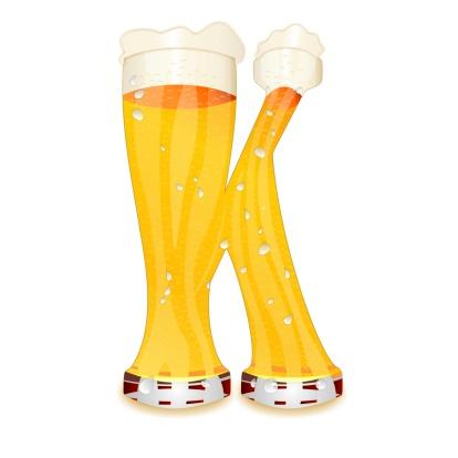 Beer Alphabet Letter K Stock Photo - Download Image Now