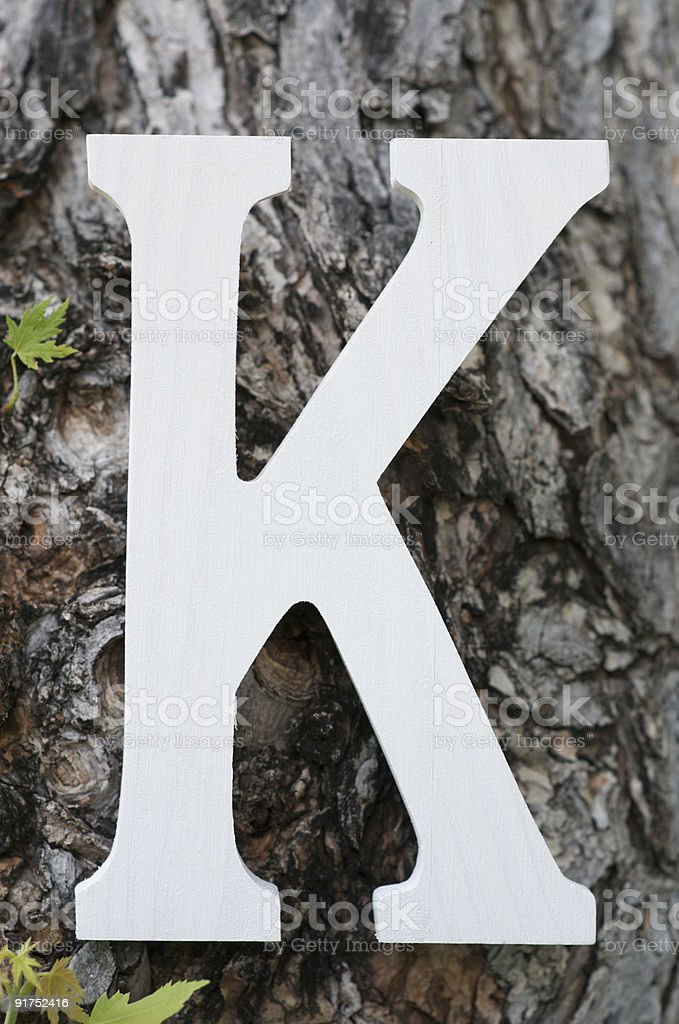Lettera K - foto stock