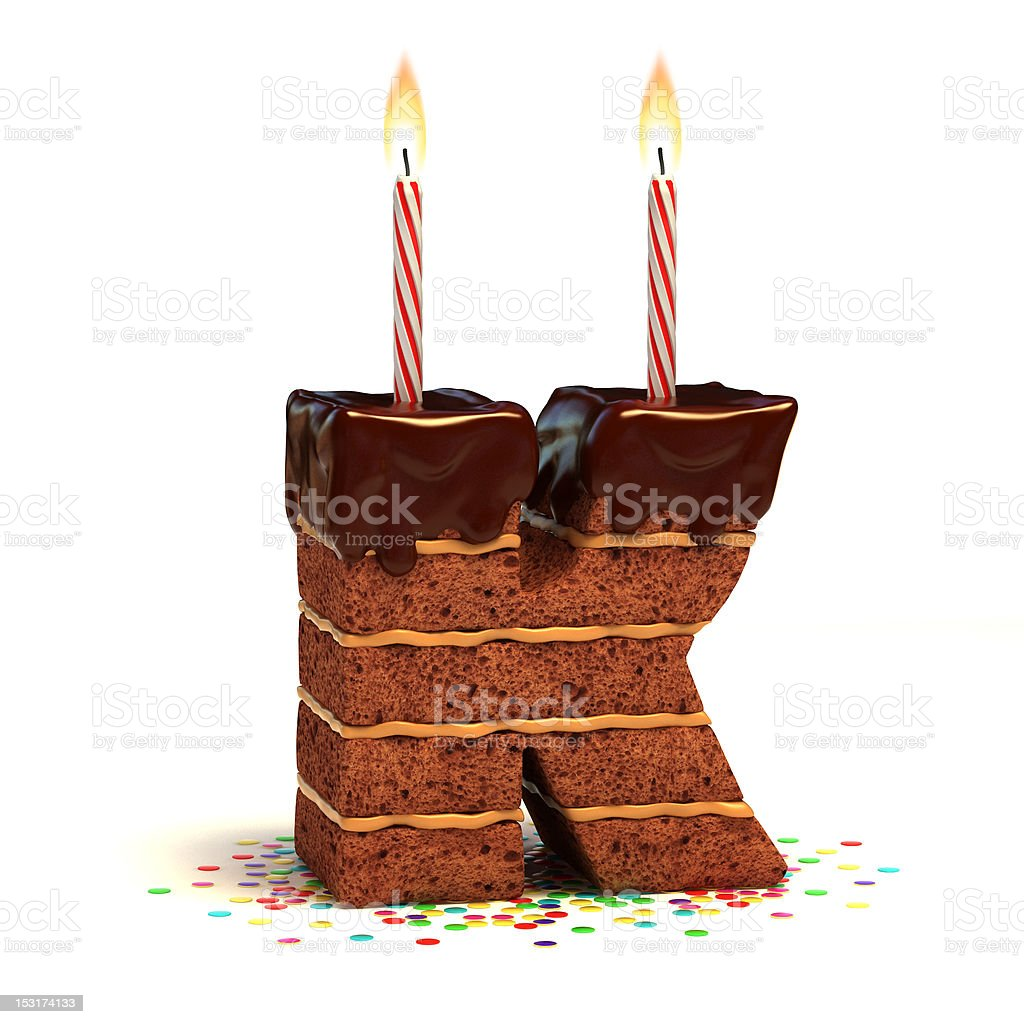 Letter K Shaped Chocolate Cake Stock Photo Amp More Pictures