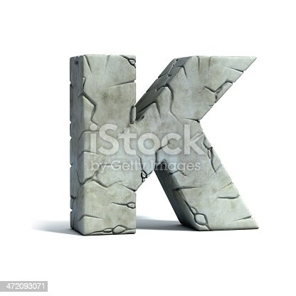 istock letter K stone 3d font 472093071