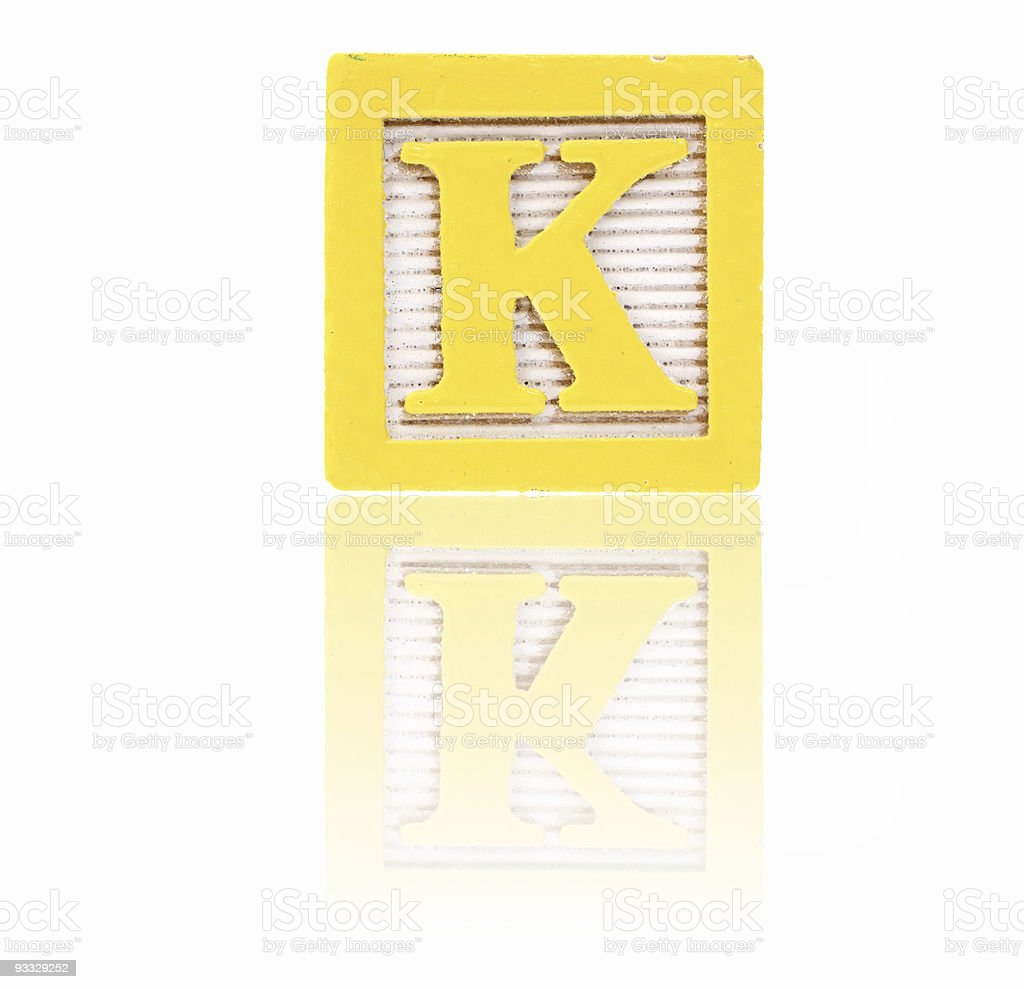 letter k - toy block series royalty-free stock photo
