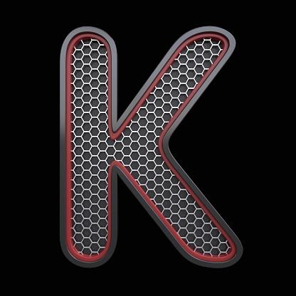 Letter K With Steel Construction — стоковые фотографии и другие картинки Алфавит