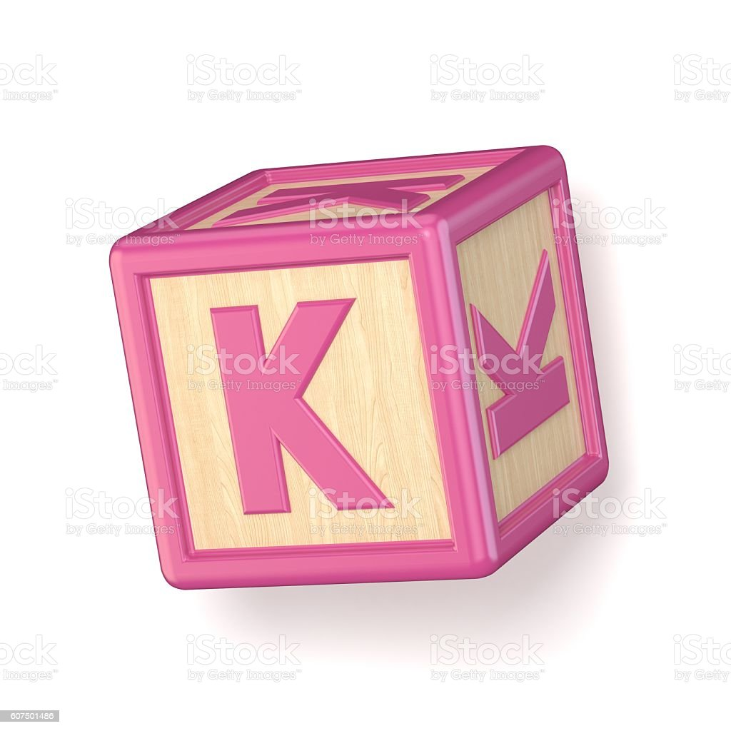 Letter K Wooden Alphabet Blocks Font Rotated D Stock Photo  More
