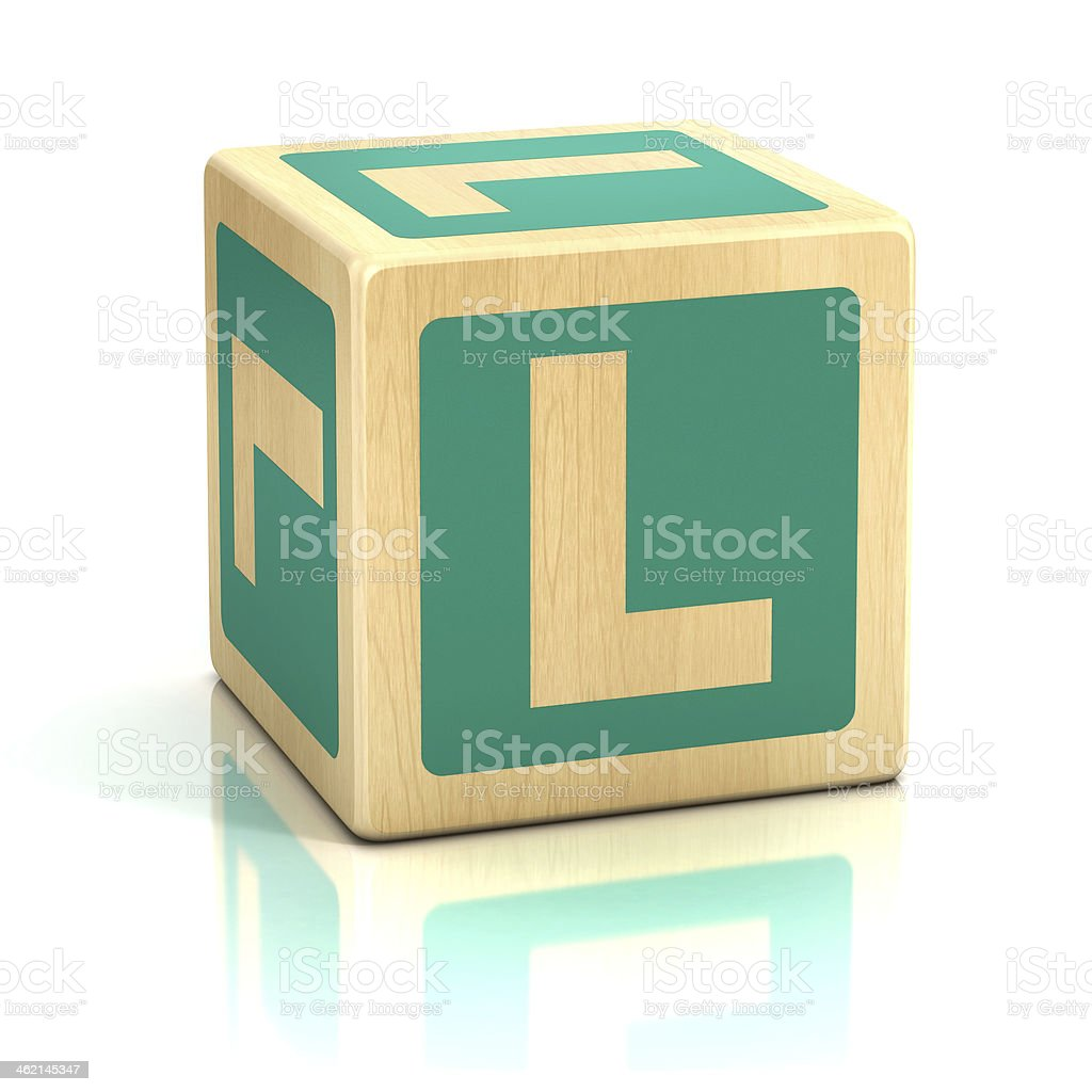 letter L alphabet cubes font stock photo