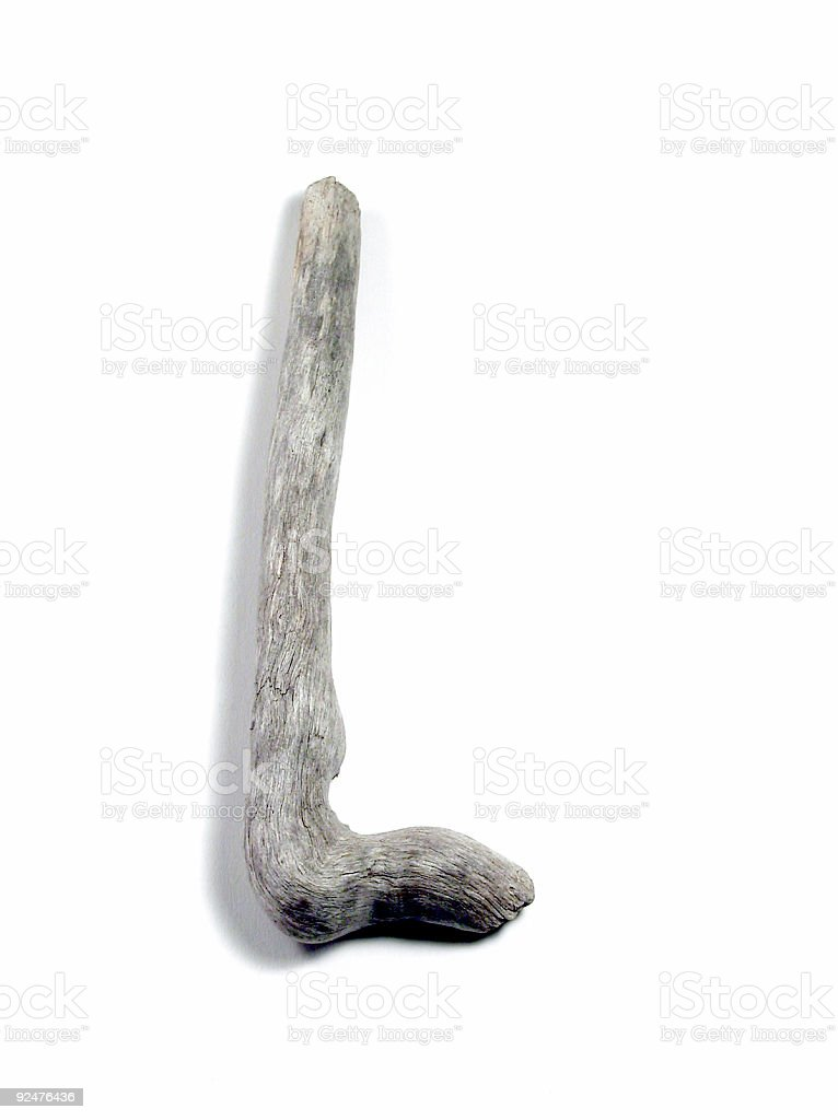 Letter L Driftwood (requested) royalty-free stock photo
