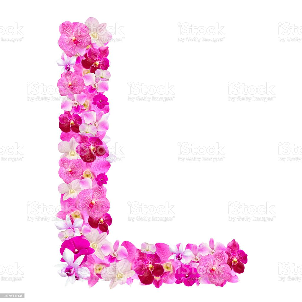 Letter L From Orchid Flowers Isolated On White Stock Photo & More ...