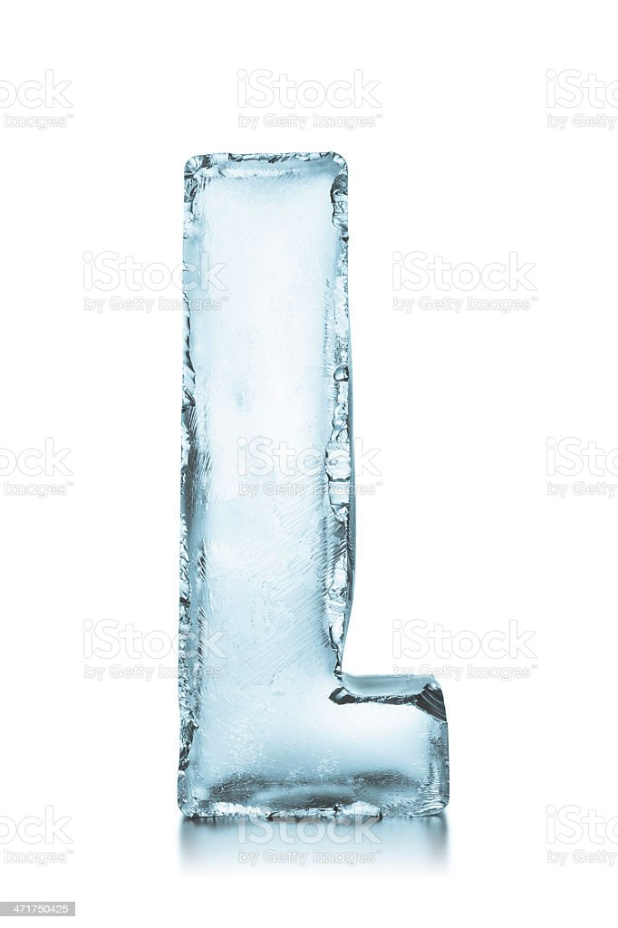 Letter L Frozen Ice Block Alphabet Stock Photo More Pictures Of