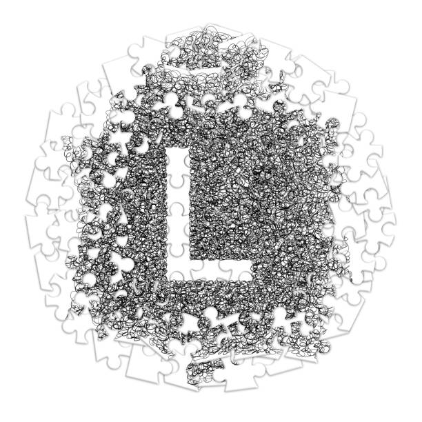 Drawing Of Letter L Designs Stock Photos, Pictures & Royalty
