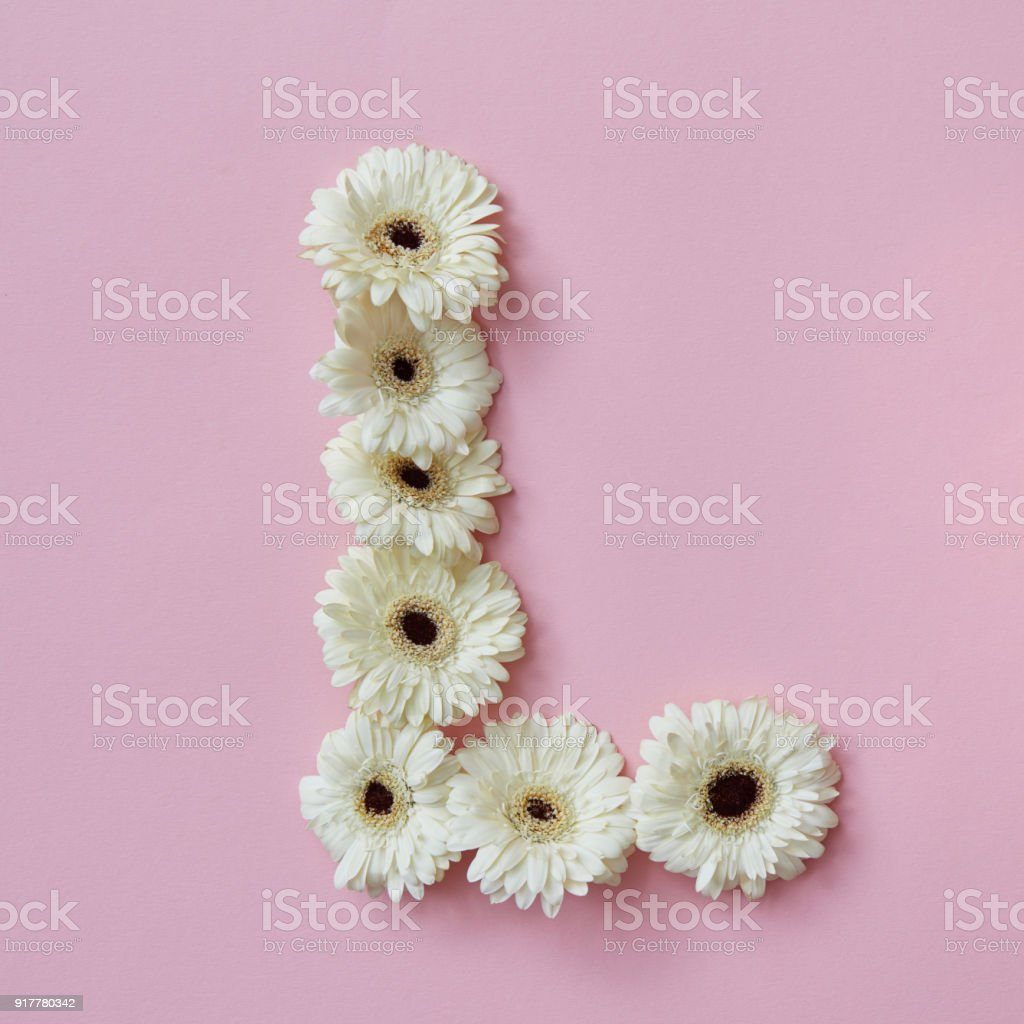 Letter L Made Of Flowers Part Of The Word Love Floral Alphabet Stock ...