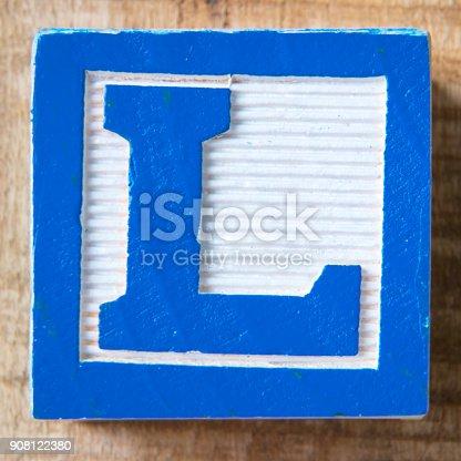 Alphabet Block Letter L