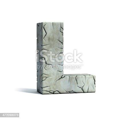 istock letter L stone 3d font 472093073