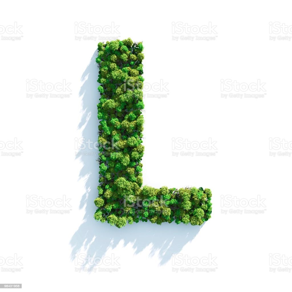 Letter L: Top View stock photo